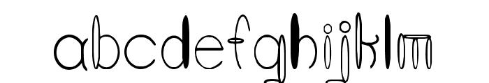 Round About Ratherish Font LOWERCASE