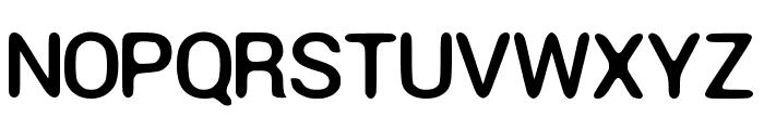 Round Corner Font Regular Font UPPERCASE