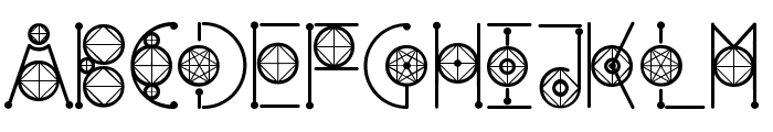 Round Geometric Font UPPERCASE