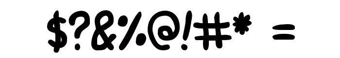 Round Irregularity Font OTHER CHARS