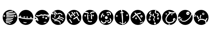RoundFacesTwo Font UPPERCASE