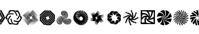 RoundMarks Font UPPERCASE