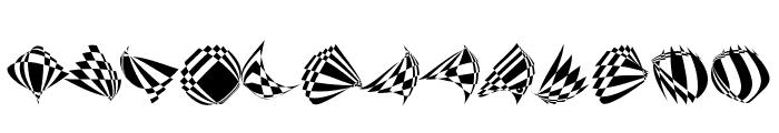 RoundOpArt Font LOWERCASE