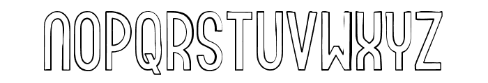Roundabout Outline Font LOWERCASE