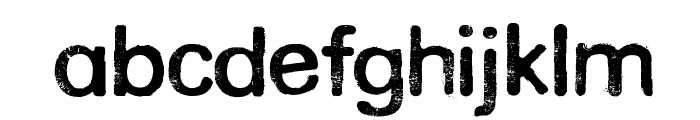 Rounded Eroded Font LOWERCASE