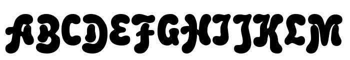 Rounded Informal Font UPPERCASE