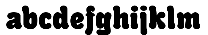 Rounded Informal Font LOWERCASE