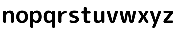 Rounded Mplus 1c Bold Font LOWERCASE