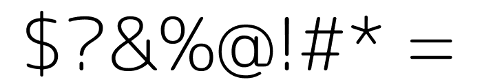 Rounded Mplus 1c Light Font OTHER CHARS