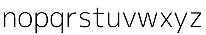 Rounded Mplus 1c Light Font LOWERCASE