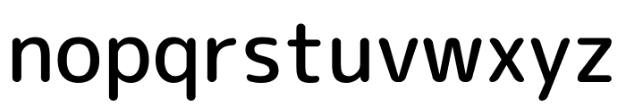 Rounded Mplus 1c Medium Font LOWERCASE