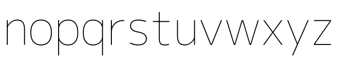Rounded Mplus 1c Thin Font LOWERCASE