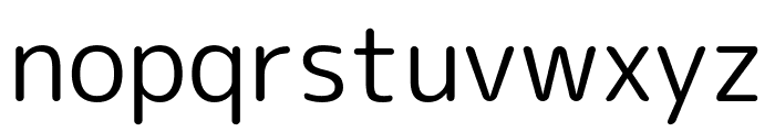 Rounded Mplus 1c Font LOWERCASE