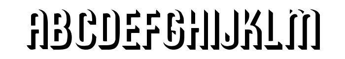 RoundedRelief Regular Font UPPERCASE