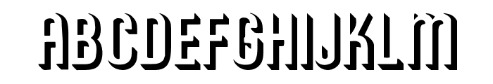 RoundedRelief Font UPPERCASE