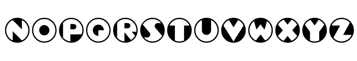 Roundel Font UPPERCASE