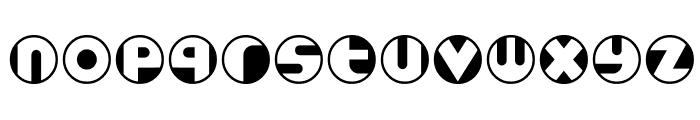Roundel Font LOWERCASE