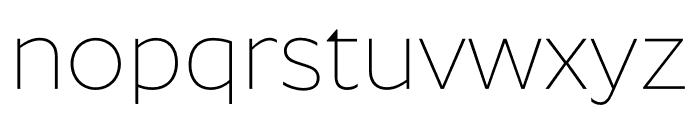 Roundo ExtraLight Font LOWERCASE
