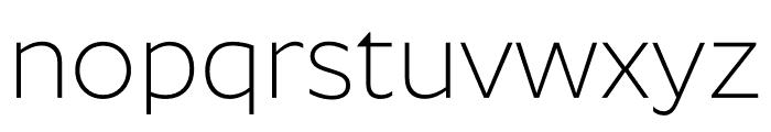 Roundo Light Font LOWERCASE