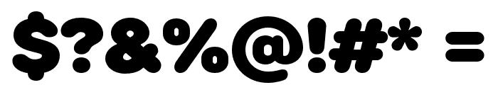 RoundsBlack Font OTHER CHARS