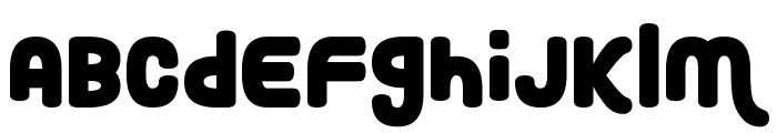 Roundy Rainbows Font LOWERCASE
