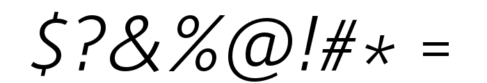 Route 159 Light Italic Font OTHER CHARS