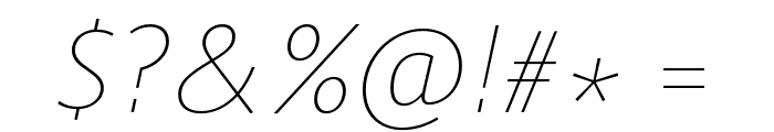 Route 159 UltraLight Italic Font OTHER CHARS