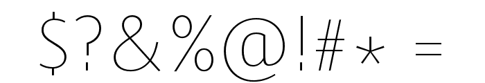 Route159-UltraLight Font OTHER CHARS