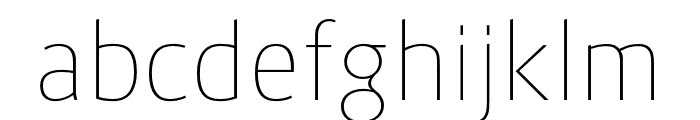 Route159-UltraLight Font LOWERCASE