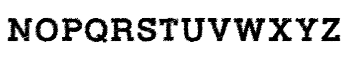 RowdyTypemachine-Bold Font UPPERCASE