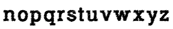 RowdyTypemachine-Bold Font LOWERCASE