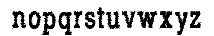RowdyTypemachine-CondensedBold Font LOWERCASE