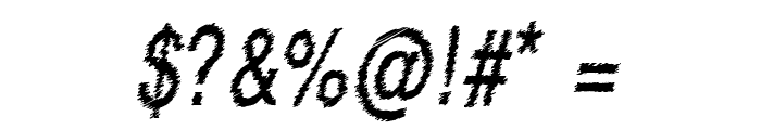 RowdyTypemachine-CondensedItali Font OTHER CHARS