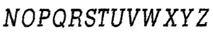 RowdyTypemachine-CondensedItali Font UPPERCASE