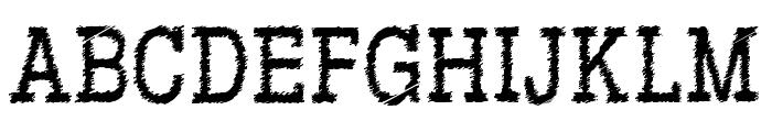 RowdyTypemachine-CondensedRegul Font UPPERCASE