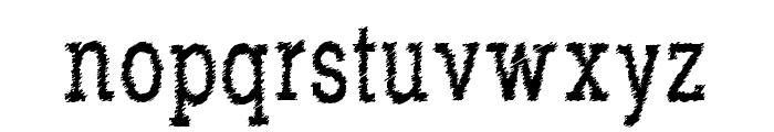 RowdyTypemachine-CondensedRegul Font LOWERCASE