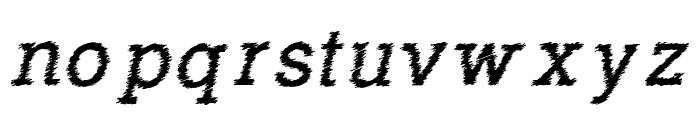 RowdyTypemachine-Italic Font LOWERCASE