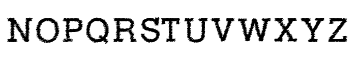 RowdyTypemachine Font UPPERCASE