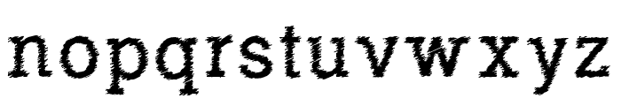 RowdyTypemachine Font LOWERCASE