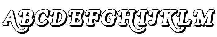 Royal Acidbath Outline Font UPPERCASE