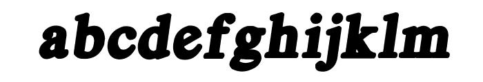 Royal Acidbath Font LOWERCASE