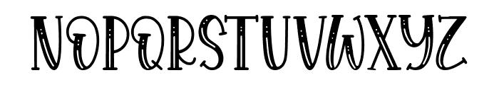 Royalbean Font UPPERCASE