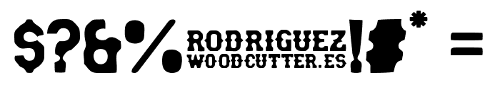 rodriguez Font OTHER CHARS