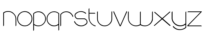 round Font LOWERCASE