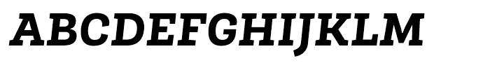 Roble Extra Bold Italic Font UPPERCASE