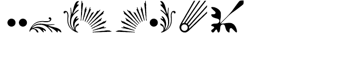 Rococo Ornaments 1 Font OTHER CHARS