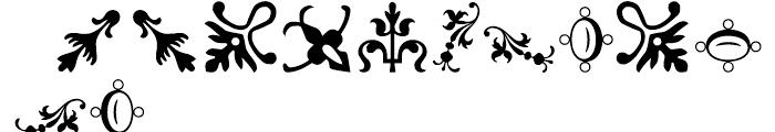 Rococo Ornaments 1 Font LOWERCASE