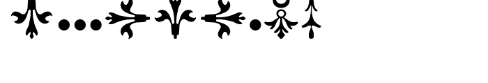 Rococo Ornaments 2 Font OTHER CHARS