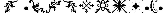 Rococo Ornaments 2 Font LOWERCASE