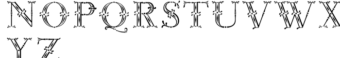 Rococo Titling Regular Font LOWERCASE